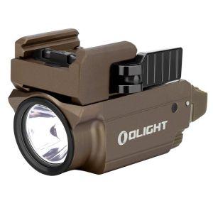 Latarka z celownikiem laserowym OLIGHT BALDR MINI RL Limited Edition Desert Tan - 600 lumenów, Red Laser