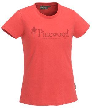 DAMSKI T-SHIRT PINEWOOD® OUTDOOR LIFE 3445 - Koralowy