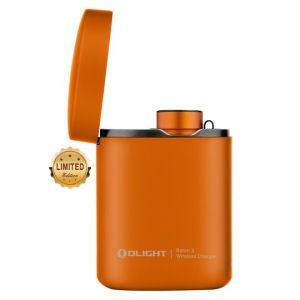 Latarka akumulatorowa OLIGHT BATON 3 Premium Edition Orange 1200 lumenów z bezprzewodowym etui ładującym