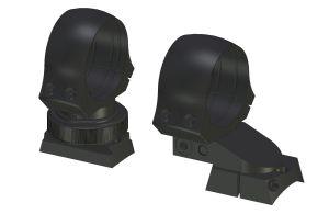 Montaż obrotowy z obejmami 25,4mm (1 cal)