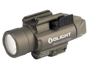 Latarka z celownikiem laserowym OLIGHT BALDR PRO Desert Tan - 1350 lumenów