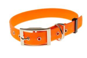 OBROŻA BIOTHANE 25mm neonowy pomarańcz - L/XL